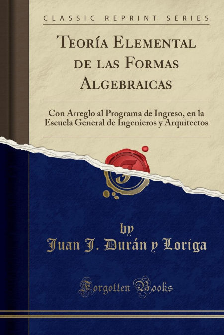 Teoría Elemental De Las Formas Algebraicas Descargar Epub