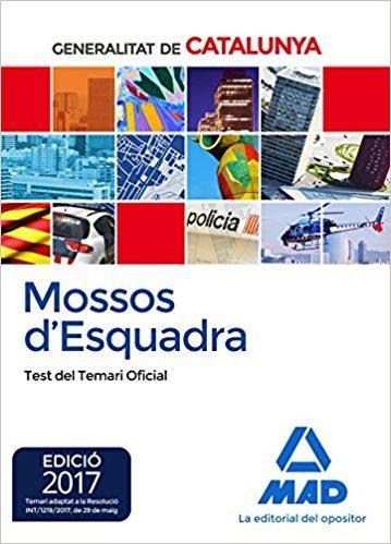 mossos d`esquadra. test del temari oficial-9788414208809