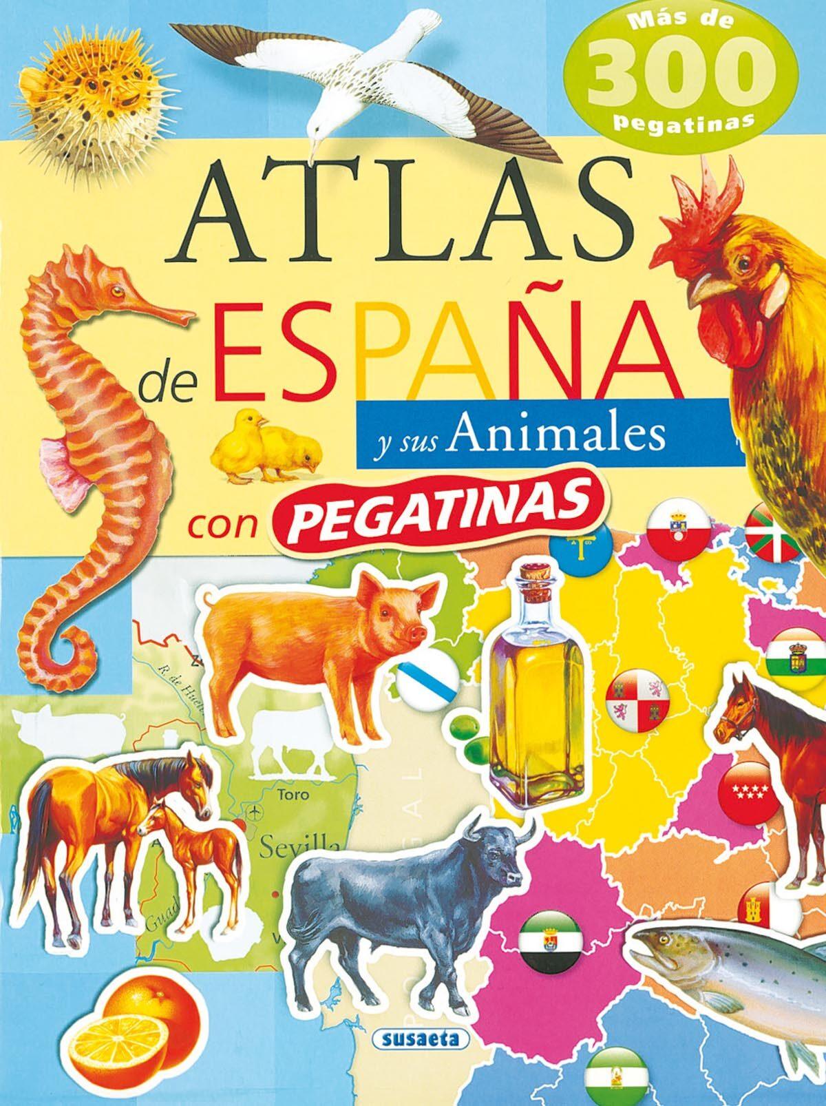 Atlas De España Y Sus Animales Con Pegatinas por Vv.aa. Gratis