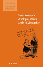 Soviet Economic Developement From Lenin To Khrushchev por R.w. Davies