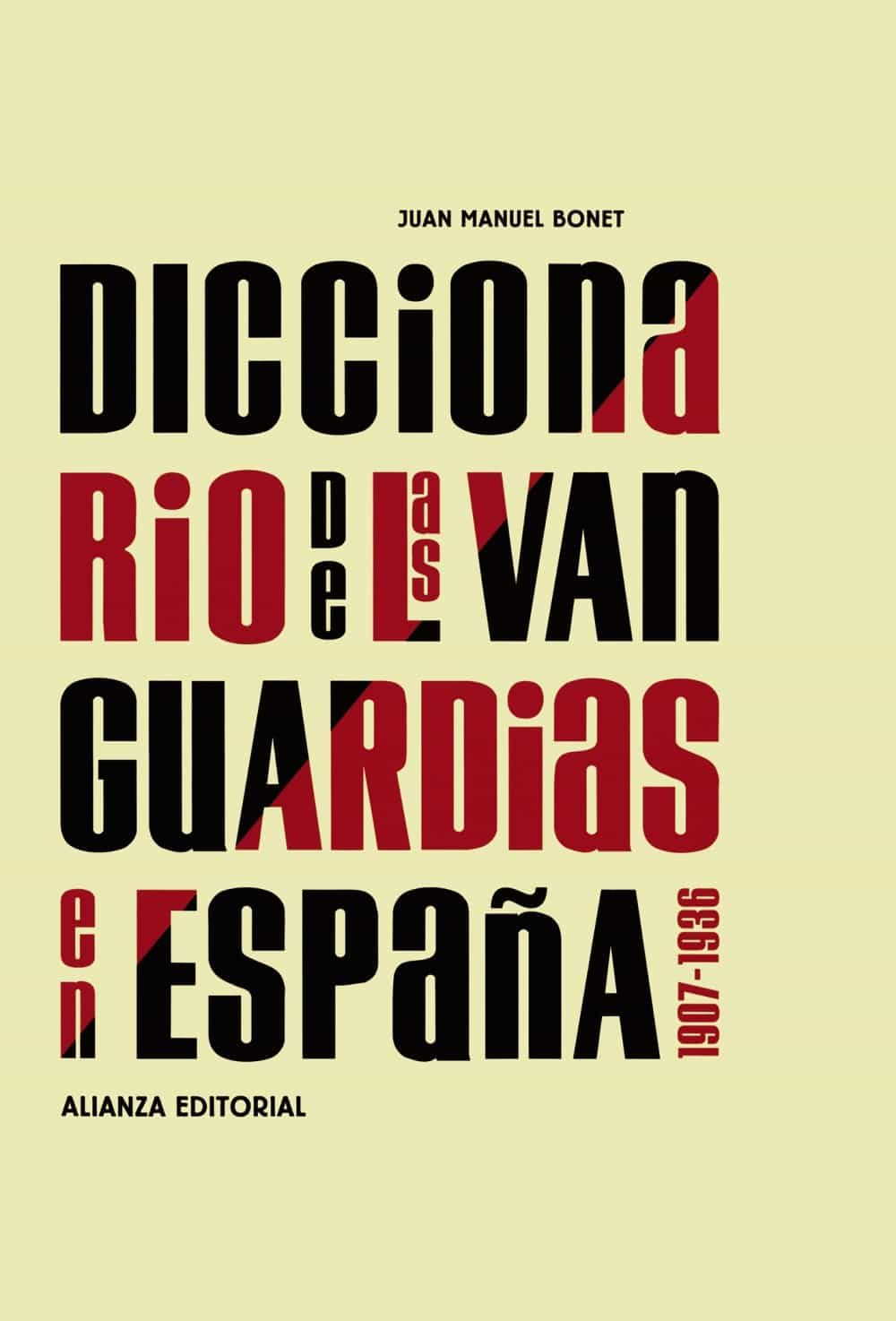 Resultado de imagen de portada del libro diccionario de las vanguardias españolas