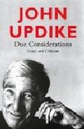 Due Considerations por John Updike