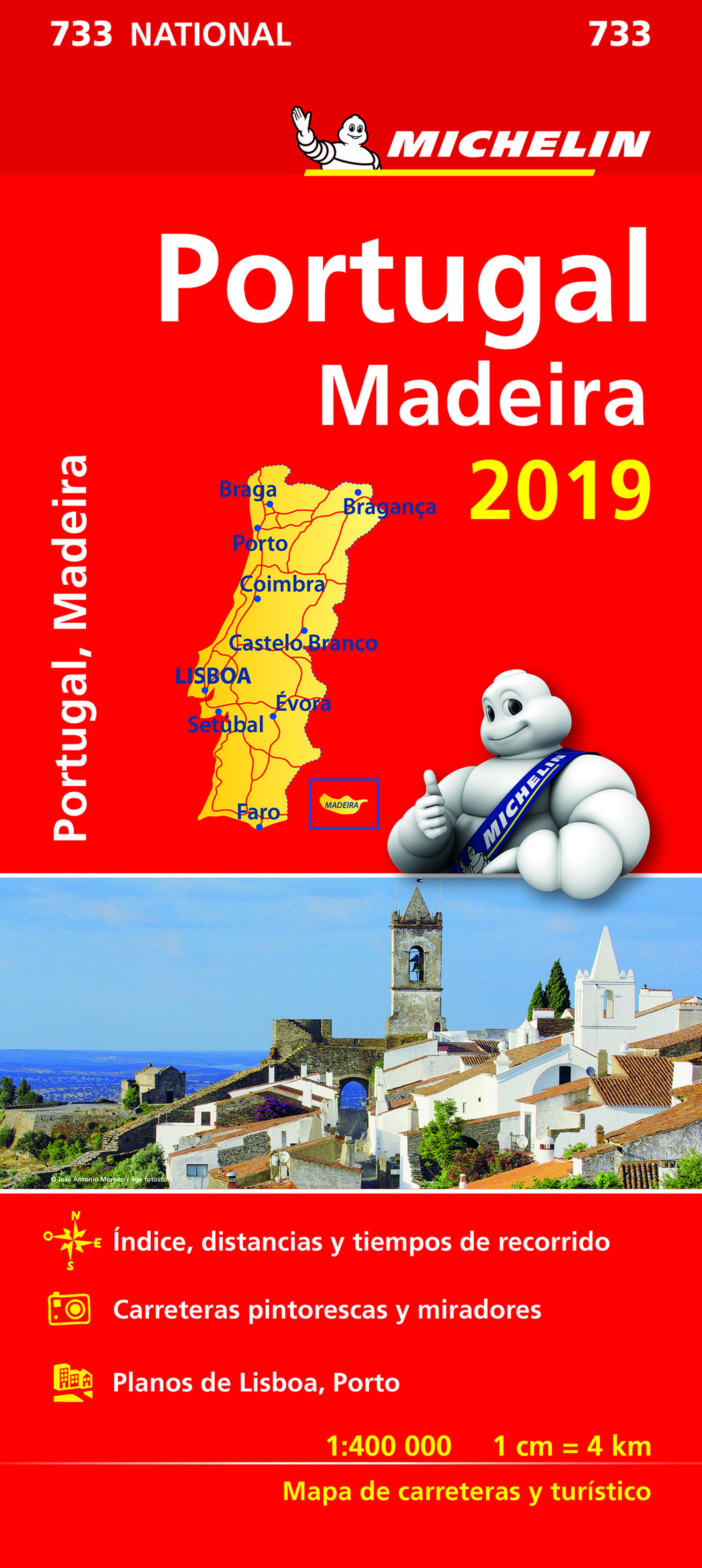 Portugal, Madeira 2019 (mapa National Michelin) por Vv.aa.