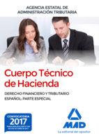cuerpo técnico de hacienda. agencia estatal de administración tributaria. derecho financiero y tributario español: parte especial-9788414213339