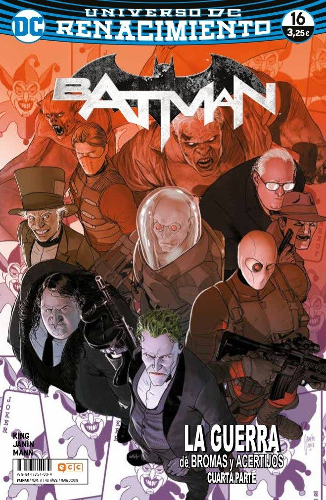 Batman 71/16 por Tom King;                                                                                                                                                                                                          Mikel Janin;