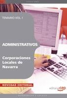 Administrativos Corporaciones Locales De Navarra: Temario (vol. I ) por Vv.aa.