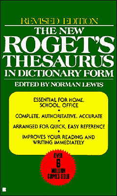 The New Roget S Thesaurus: In Dictionary Form por Norman Lewis