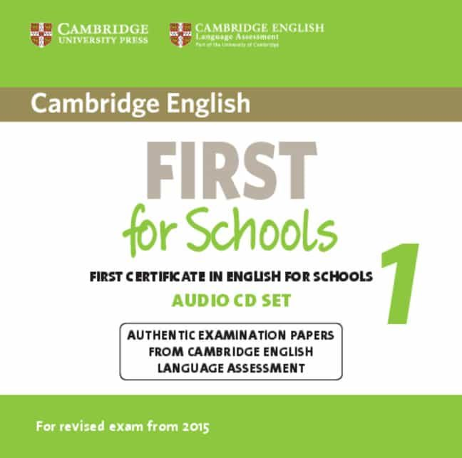 cambridge english: first for schools for revised exam 2015 audio cds (2)-9781107669079