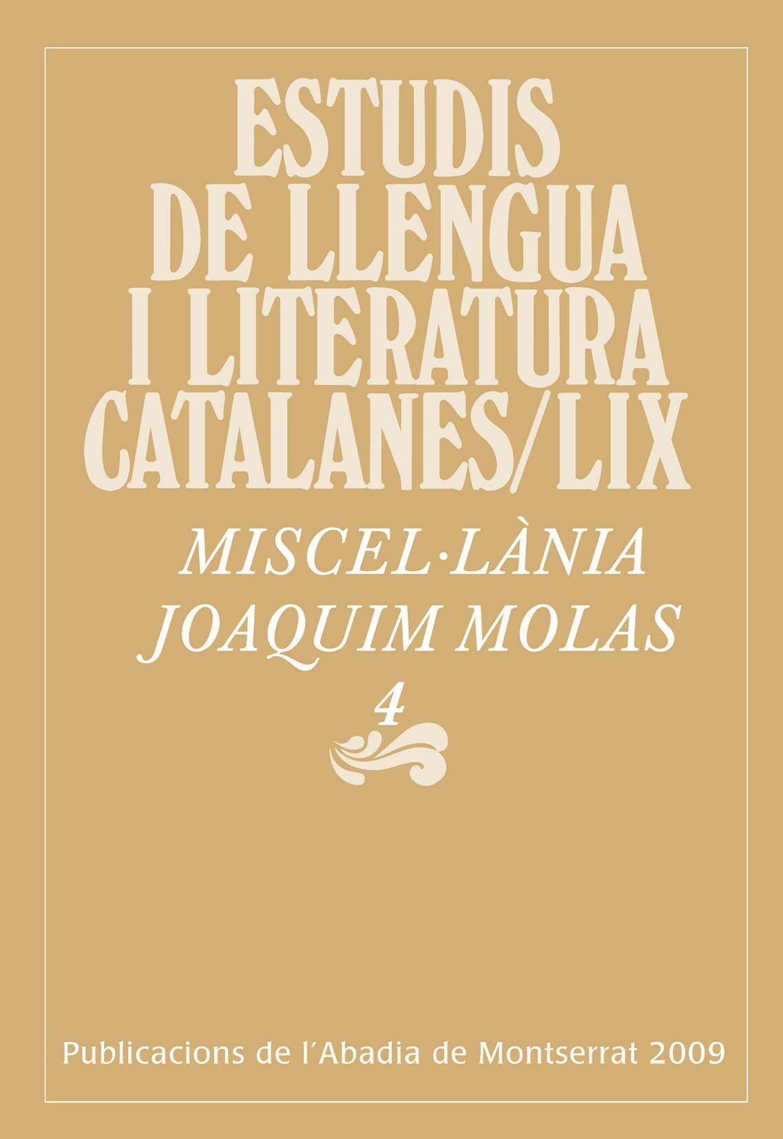 Miscel.lania Jaoquim Molas por Vv.aa.