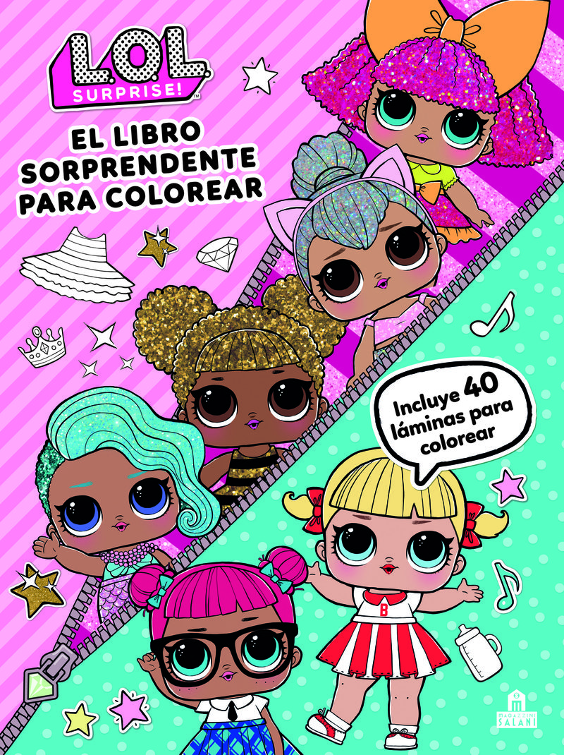 Lol Surprise El Libro Sorprendente Para Colorear Incluye 40