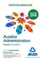 auxiliar administrativo de la junta de andalucia: temario (vol. 1 )-9788414215609