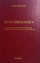 Scribd descarga de libros gratis Acta theologica