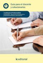 (i.b.d.)operaciones de grabación y tratamiento de datos y documen tos. adgg0508 guía para el docente y solucionarios-9788483649909