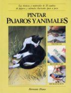 pintar pajaros y animales: las tecnicas y materiales de 22 cuadro s de pajaros y animales ilustradas paso a paso-patricia monahan-9788487756009