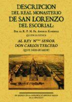 descripcion del real monasterio del escorial (ed. facsimil)-fr. andres ximenez-9788497612609