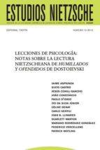 lecciones de psicología: notas sobre la lectura nietzscheana de humillados y ofendidos de dostoievski (ebook)-joan b. llinares-cdlen12786609