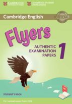 cambridge english young learners english tests (2018 exam) flyers 1 student s book 9781316635919