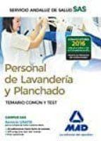 personal de lavandería y planchado del servicio andaluz de salud. temario común 9788414200919