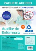 paquete ahorro auxiliar de enfermeria de osakidetza (inclye temario comun y test; temario general volumenes 1, 2, 3) 9788414215319