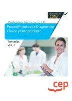 cuerpo de profesores técnicos de f.p. procedimientos de diagnóstico clínico y ortoprotésico temario volumen ii 9788417625719