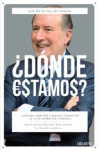 ¿donde estamos?: verdades, mentiras y deberes pendientes de la recuperacion economica jose m gay de liebana 9788423420919
