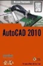 autocad 2010 (manual avanzado) fernando montaño la cruz 9788441526419