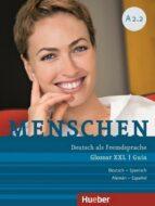 menschen a2/2: deutsch als fremdsprache / glossar xxl deutsch spanisch   guía alemán español 9783197519029