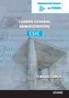 CUERPO GENERAL ADMINISTRATIVO DEL CSIC ADMINISTRACION GENERAL DEL ESTADO