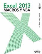 excel 2013. macros y vba-bill jelen-tracy syrstad-9788441533929