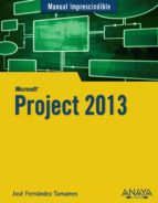 project 2013 (manual imprescindible) jose fernandez tamames 9788441534629