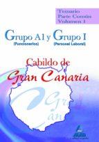 GRUPO A1 (FUNCIONARIOS) Y GRUPO I (PERSONAL LABORAL) DEL CABILDO DE GRAN CANARIA. TEMARIO PARTE COMUN. VOLUMEN I