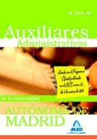 AUXILIARES ADMINISTRATIVOS DE LA UNIVERSIDAD AUTONOMA DE MADRID. TEST