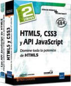 html5, css3 y api javascript: pack de 2 libros: domine toda la po tencia de htmls luc van lancker 9782746089839