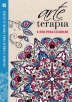 arte terapia: libro para colorear: colorea y dibuja para vencer el estres (azul)-9788466655439