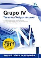 personal laboral de ministerios. grupo iv. temario y test parte c omun-9788467667639