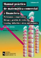 manual practico de matematica comercial y financiera (vol. 2)-andres de pablo lopez-9788480044639