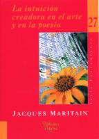 la intuicion creadora en el arte y en la poesia-jacques maritain-9788482398839