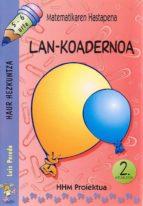 matematikaren hastapena lan-koadernoa 2. hiruilekoa-luis pereda-9788483256039