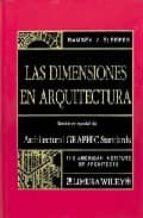 Libros digitales gratis para descargar Las dimensiones en arquitectura