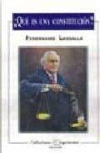 ¿que es una constitucion? ferdinand lassalle 9789706330239