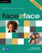 face2face for spanish speakers workbook with key (2nd edition) (l evel intermediate) chris redston gillie cunningham 9781107609549