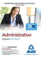 administrativo de la administracion general del estado (turno libre). temario (vol. 2)-9788414214749