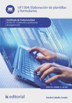 elaboración de plantillas y formularios. ifcd0110 (ebook)-sandra cabello jurado-9788416351749