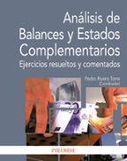 analisis de balances y estados complementarios-pedro rivero torre-9788436826449