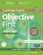 objective first for spanish speakers student s pack without answers (student s book with cd-rom, workbook with audio cd) 4th edition-9788483236949