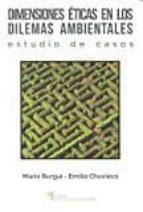 dimensiones eticas en los dilemas ambientales-mario burgui-9788484693949