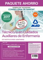 paquete ahorro tecnico/a en cuidados auxiliares de enfermeria de instituciones sanitarias de la conselleria de sanitat de la      generalitat valenciana (incluye temario comun y test vol. 1 y 2; temar-9788414212059
