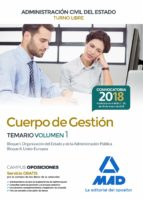 cuerpo de gestion de la administracion civil del estado: temario (vol. 1) 9788414213759