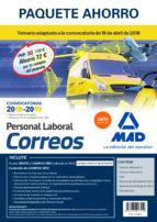 paquete ahorro personal laboral correos (incluye temarios 1 y 2; test; simulacros de examen 1 y 2; psicotécnico y acceso a campus oro)-9788414217559