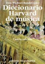 diccionario harvard de musica don michael randel 9788420697659
